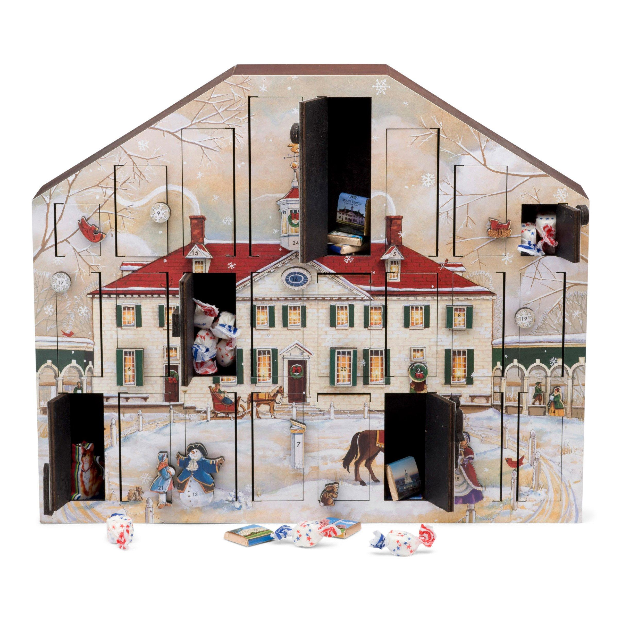 Mount Vernon Wooden Advent Calendar