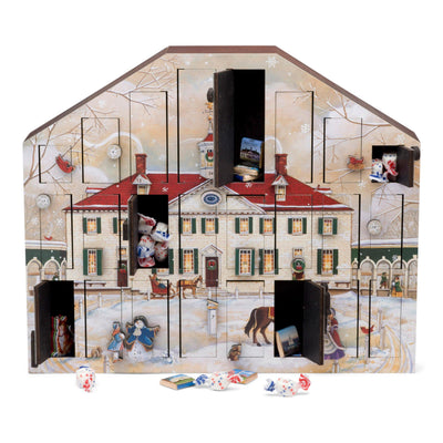 Mount Vernon Byers' Choice Wooden Advent Calendar