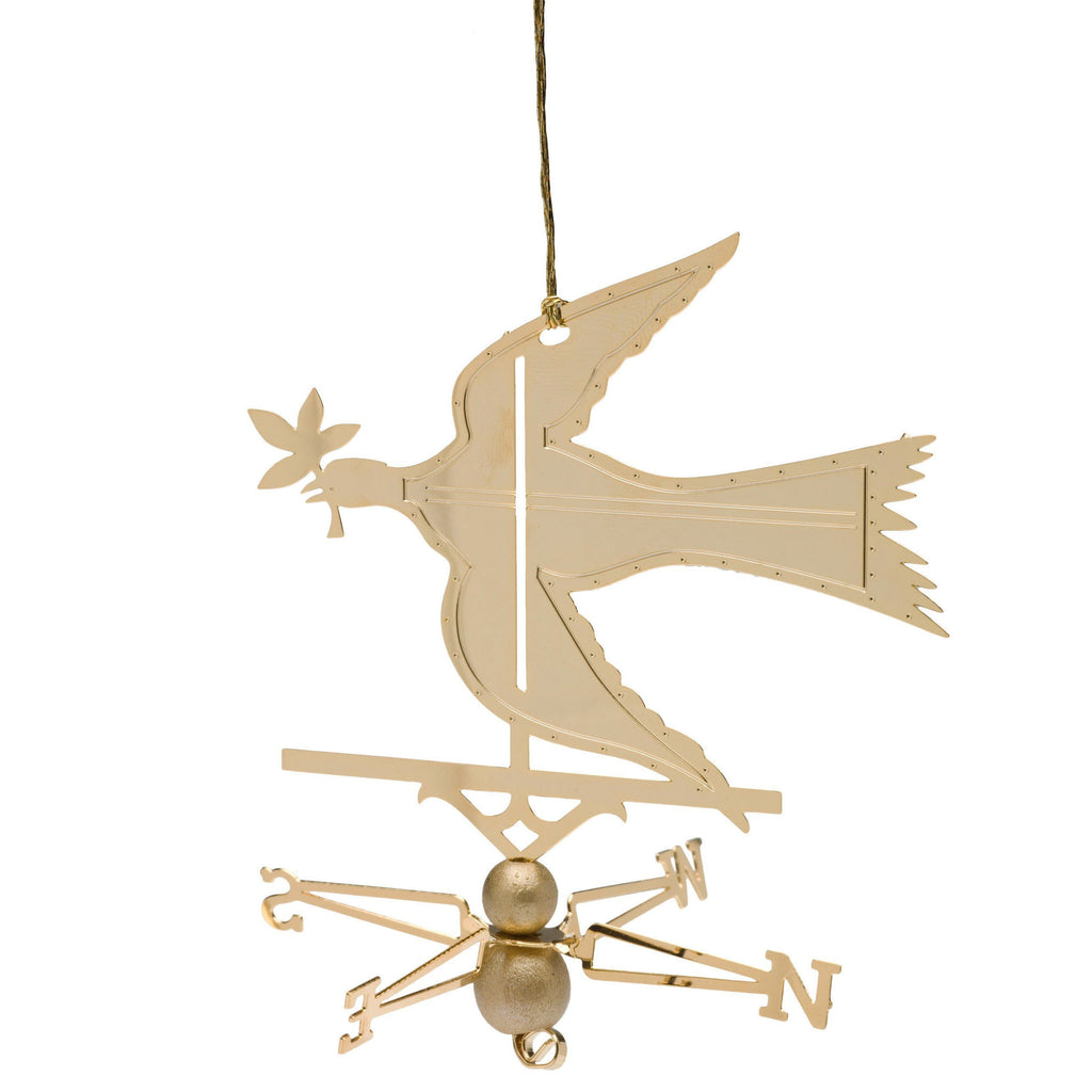 Dove of Peace Brass Ornament