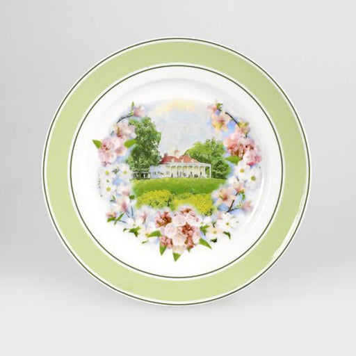 Mount Vernon Floral Porcelain Plate - The Shops at Mount Vernon - The Shops at Mount Vernon