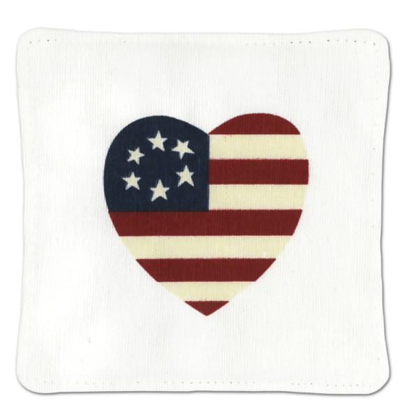 Flag Heart Spiced Mug Mat - The Shops at Mount Vernon - The Shops at Mount Vernon