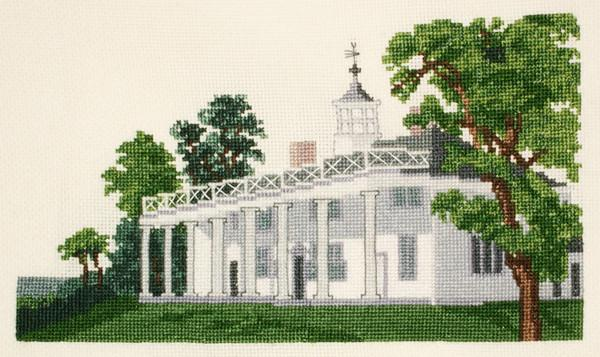Currier & Ives Mount Vernon Cross Stitch Kit - The Shops at Mount Vernon - The Shops at Mount Vernon