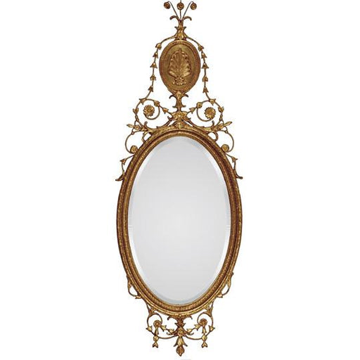 Mount Vernon Antiqued Gold Oval Mirror - The Shops at Mount Vernon - The Shops at Mount Vernon