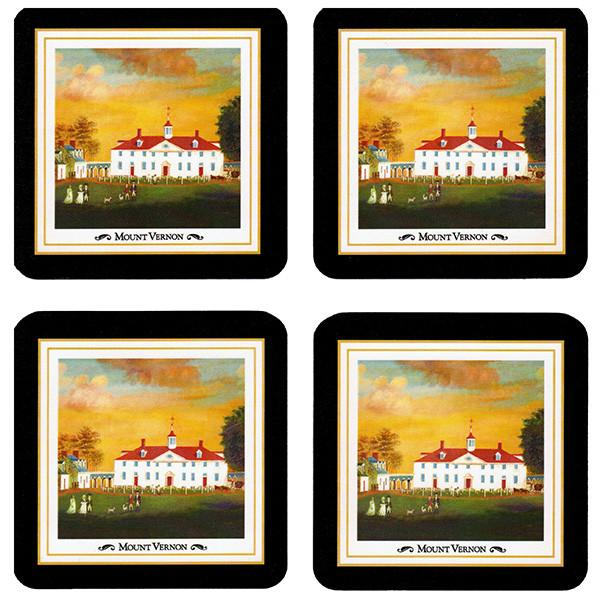 Mount Vernon 1792 Set of Four Coasters - LDA - The Shops at Mount Vernon