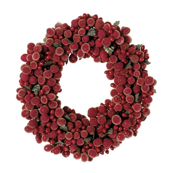 Holiday Berry Pillar Candle Ring