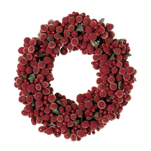Holiday Berry Pillar Candle Ring - RAZ IMPORTS INC - The Shops at Mount Vernon