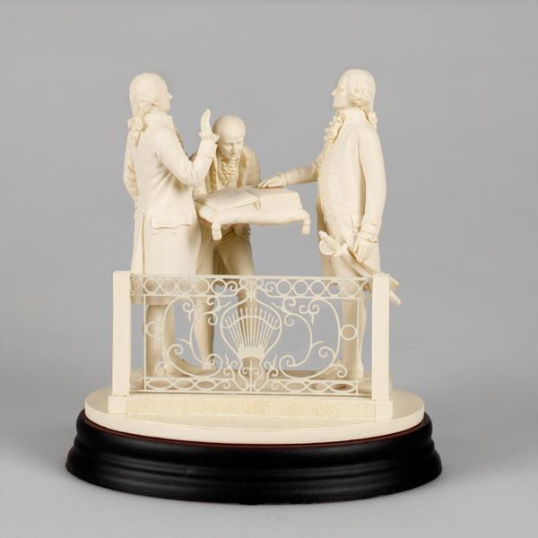 Washington's Oath of Office Sculpture - DESIGN MASTER ASSOCIATES - The Shops at Mount Vernon