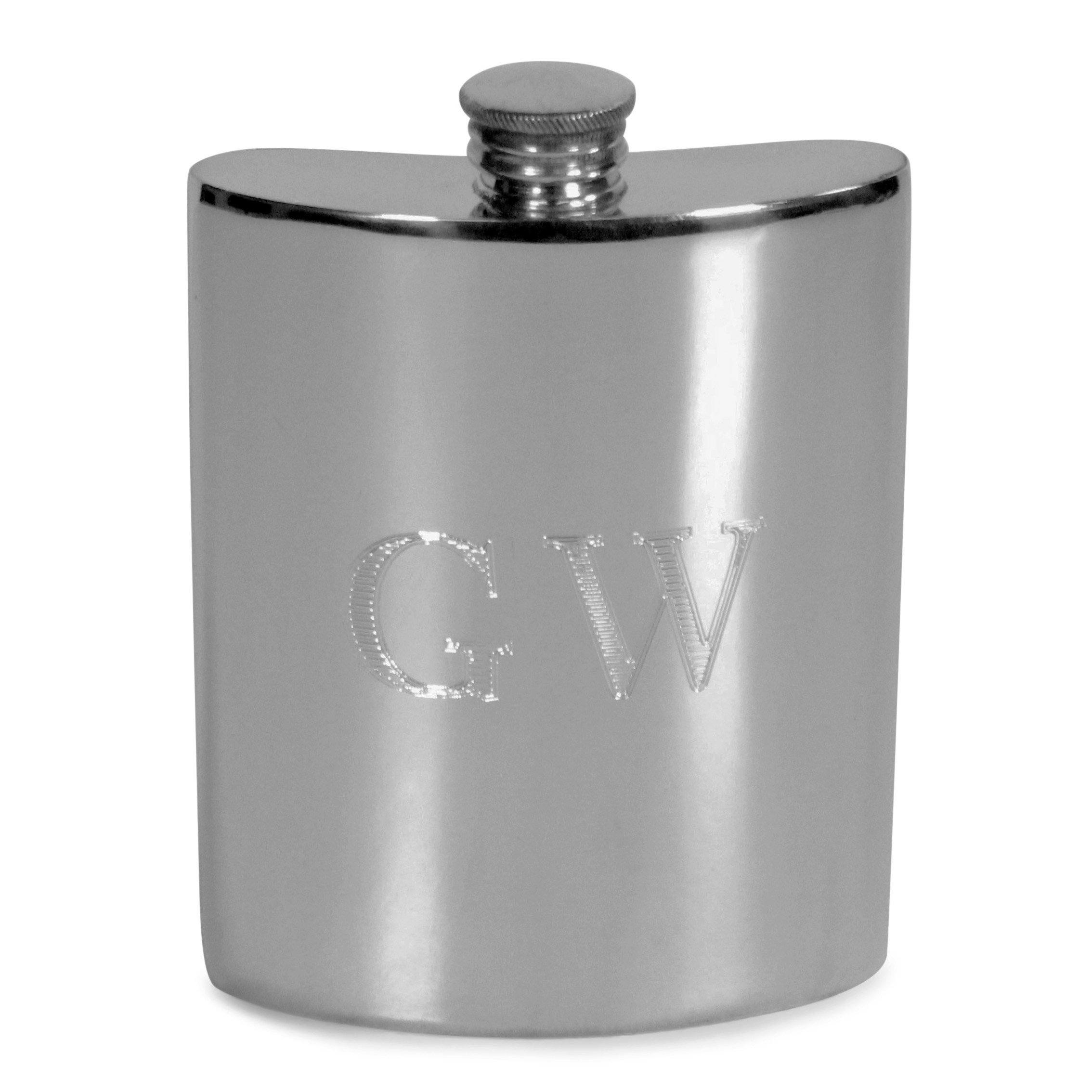 George Washington Pewter Hip Flask