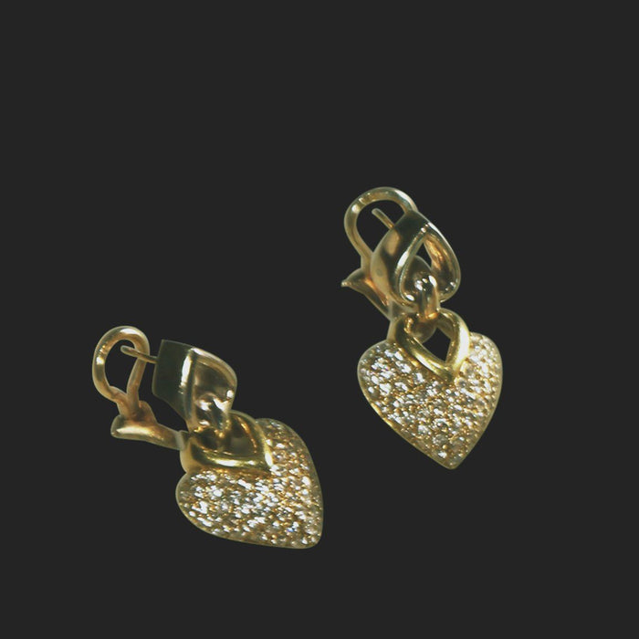 Diamond Heart Earrings - THE ANTIQUE GUILD - The Shops at Mount Vernon