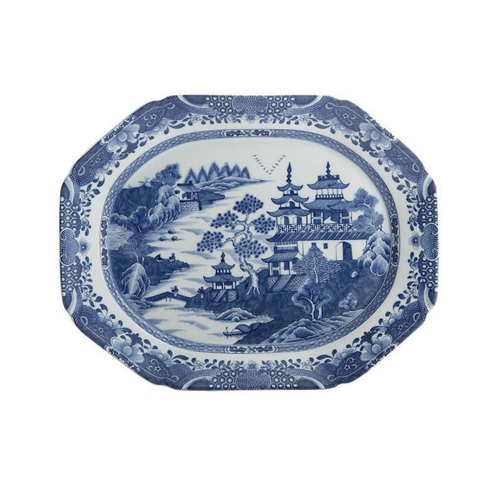 "Blue Canton 13 ½"" Medium Platter - MOTTAHEDEH & COMPANY, INC - The Shops at Mount Vernon"