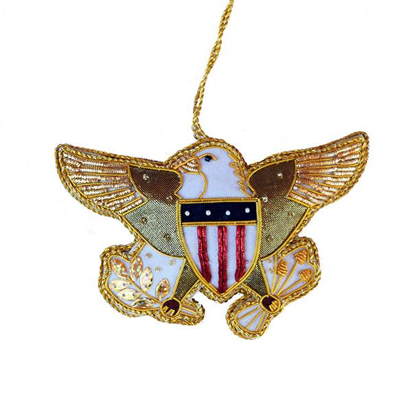 Embroidered Diplomatic Eagle Ornament - ST NICOLAS LTD. - The Shops at Mount Vernon