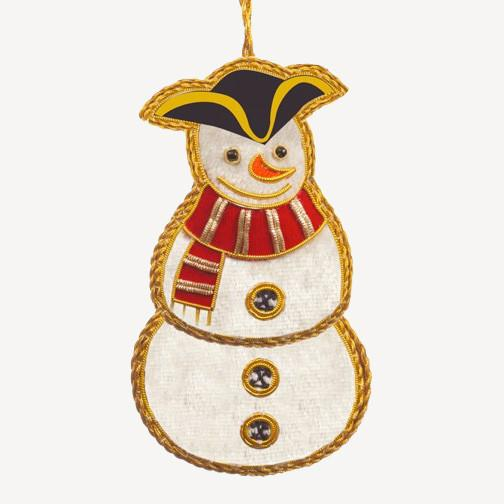 Colonial Snowman Ornament - ST NICOLAS LTD. - The Shops at Mount Vernon