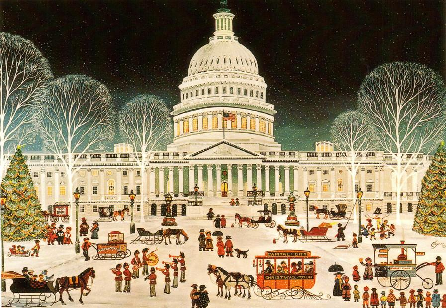 Folk Art U.S. Capitol Christmas Cards - The Shops at Mount Vernon - The Shops at Mount Vernon