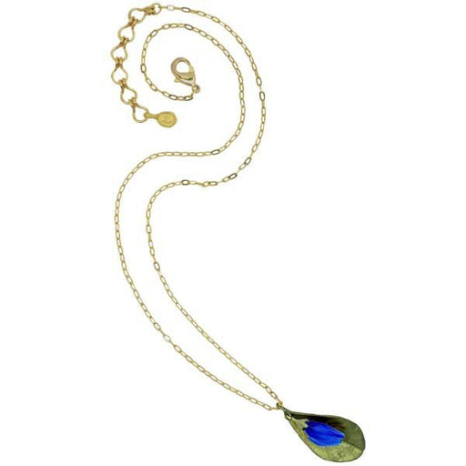 "Blue False Indigo Leaf 16"" Necklace - Silver Seasons - The Shops at Mount Vernon"