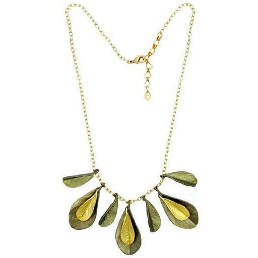 Blue False Indigo Two-Toned Multi-Leaf Necklace - The Shops at Mount Vernon - The Shops at Mount Vernon
