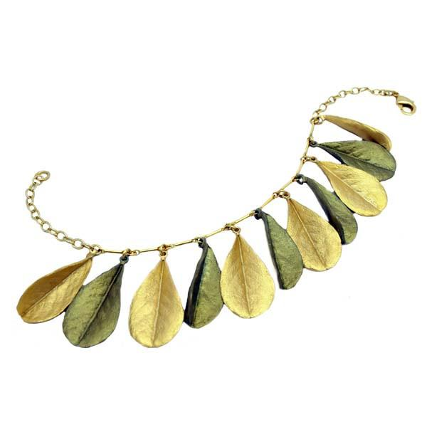 Blue False Indigo Two-Toned Leaf Bracelet - Silver Seasons - The Shops at Mount Vernon