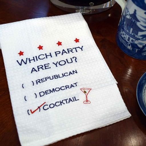 Which Party Are You? Towel - C & F ENTERPRISE - The Shops at Mount Vernon