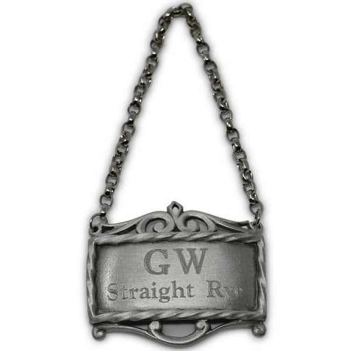 GW's Straight Whiskey Pewter Decanter Label - SALISBURY PEWTER - The Shops at Mount Vernon