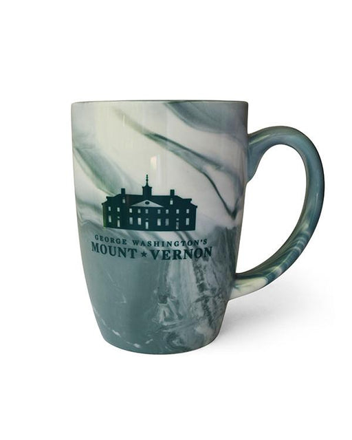 Mount Vernon Marble Mug in Green - The Shops at Mount Vernon - The Shops at Mount Vernon