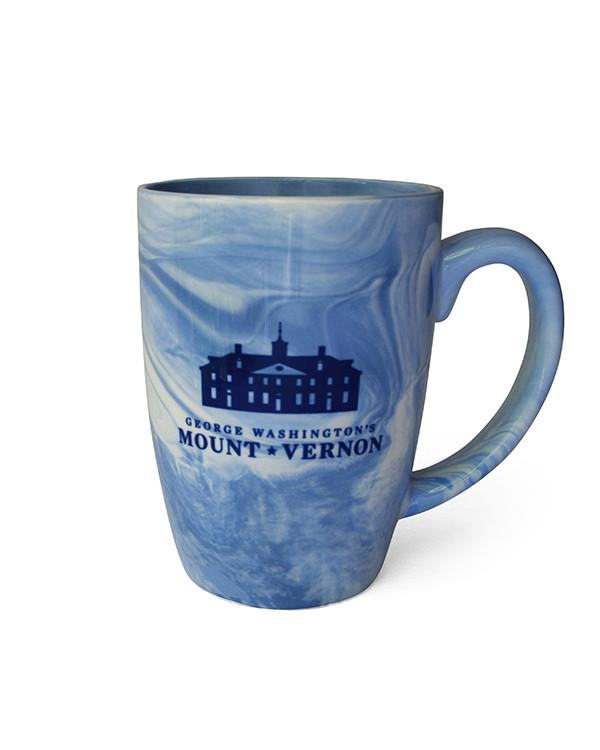 Mount Vernon Marble Mug in Blue - The Shops at Mount Vernon - The Shops at Mount Vernon