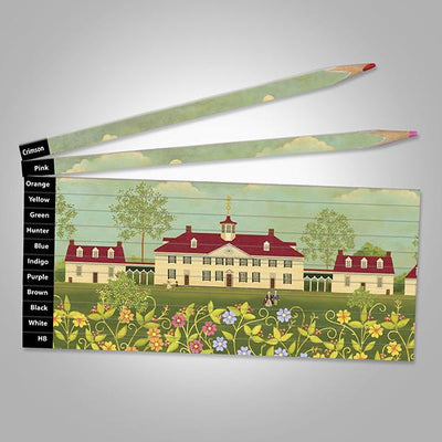 Folk Art Mount Vernon Puzzle Pencil Set