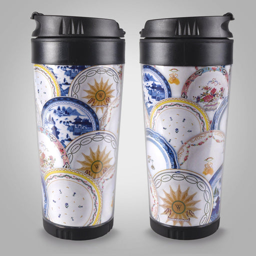 Martha's China Pattern Travel Mug - DESIGN MASTER ASSOCIATES - The Shops at Mount Vernon