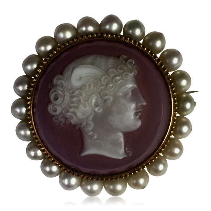 Victorian Pearl Cameo - THE ANTIQUE GUILD - The Shops at Mount Vernon