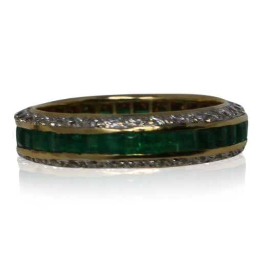 Emerald and Diamond Eternity Ring - THE ANTIQUE GUILD - The Shops at Mount Vernon