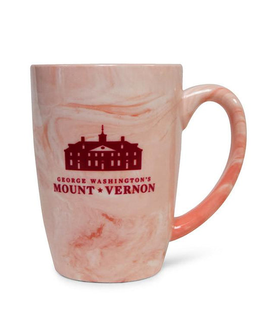 Mount Vernon Marble Mug in Pink - The Shops at Mount Vernon - The Shops at Mount Vernon