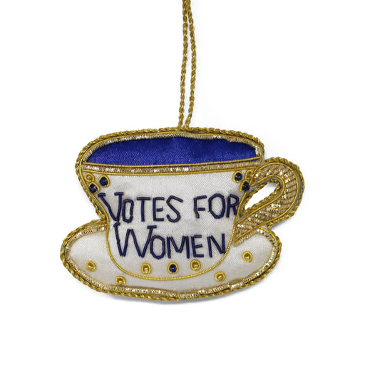 Votes for Women Tea Cup Ornament - ST NICOLAS LTD. - The Shops at Mount Vernon