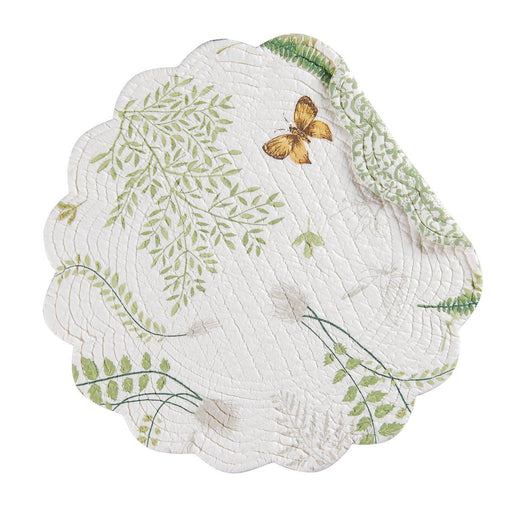 Garden Greenery Round Placemat - C & F ENTERPRISE - The Shops at Mount Vernon