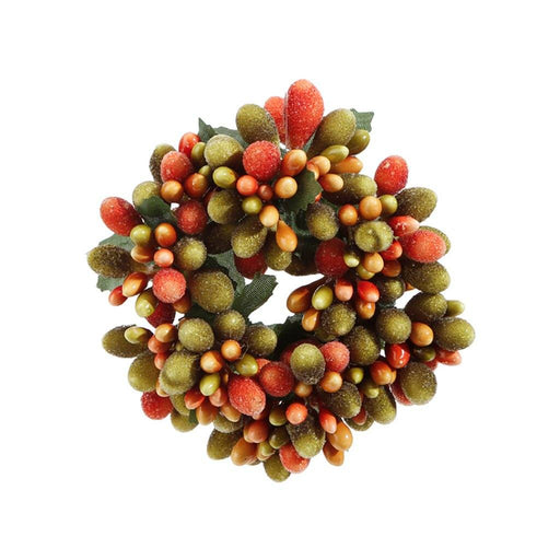 Fall Beaded Berry Napkin Candle Ring - RAZ IMPORTS INC - The Shops at Mount Vernon