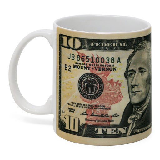Hamilton $10.00 Bill Mug - CHARLES PRODUCTS INC. - The Shops at Mount Vernon