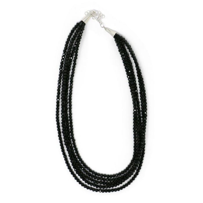 Jet Black Five-Strand Necklace - Valerie Sanson - The Shops at Mount Vernon