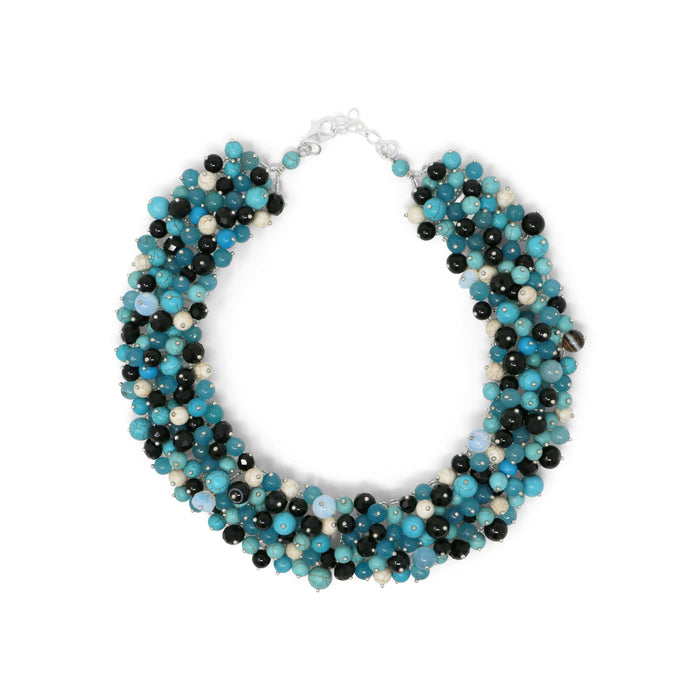 Turquoise Confetti Collar Necklace - Valerie Sanson - The Shops at Mount Vernon