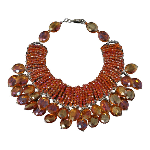 Tangelo PomPom Necklace - Valerie Sanson - The Shops at Mount Vernon