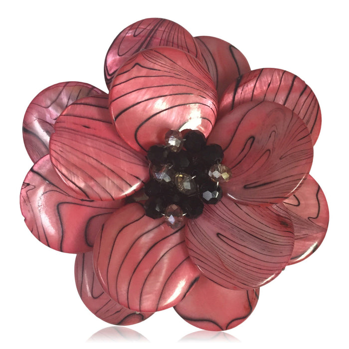Pink Wildfire Poppy Pin - Valerie Sanson - The Shops at Mount Vernon