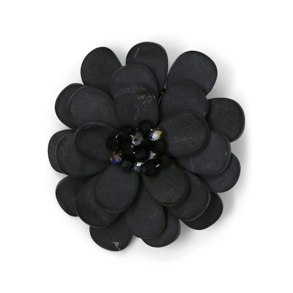 Large Midnight Rose Pin