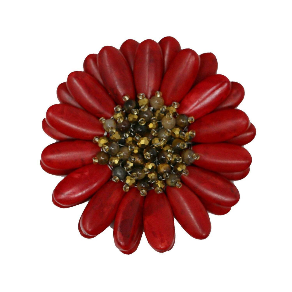 Red Gerbera Pin - Valerie Sanson - The Shops at Mount Vernon