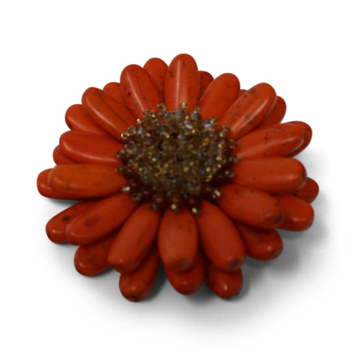 Orange Gerbera Pin - Valerie Sanson - The Shops at Mount Vernon