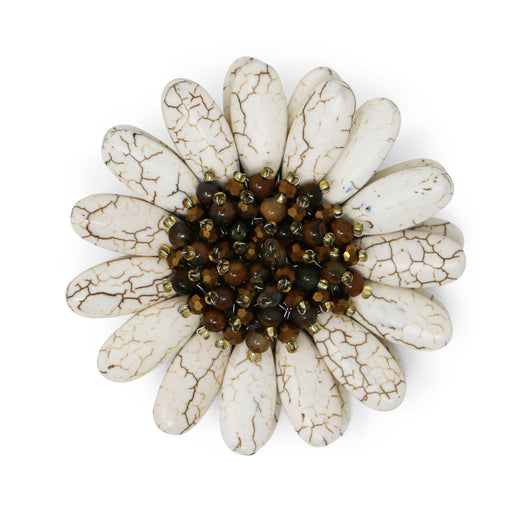 Ivory Gerbera Pin - Valerie Sanson - The Shops at Mount Vernon