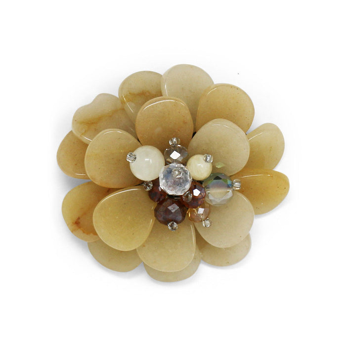 Ivory Agate Dahlia Pin - Valerie Sanson - The Shops at Mount Vernon