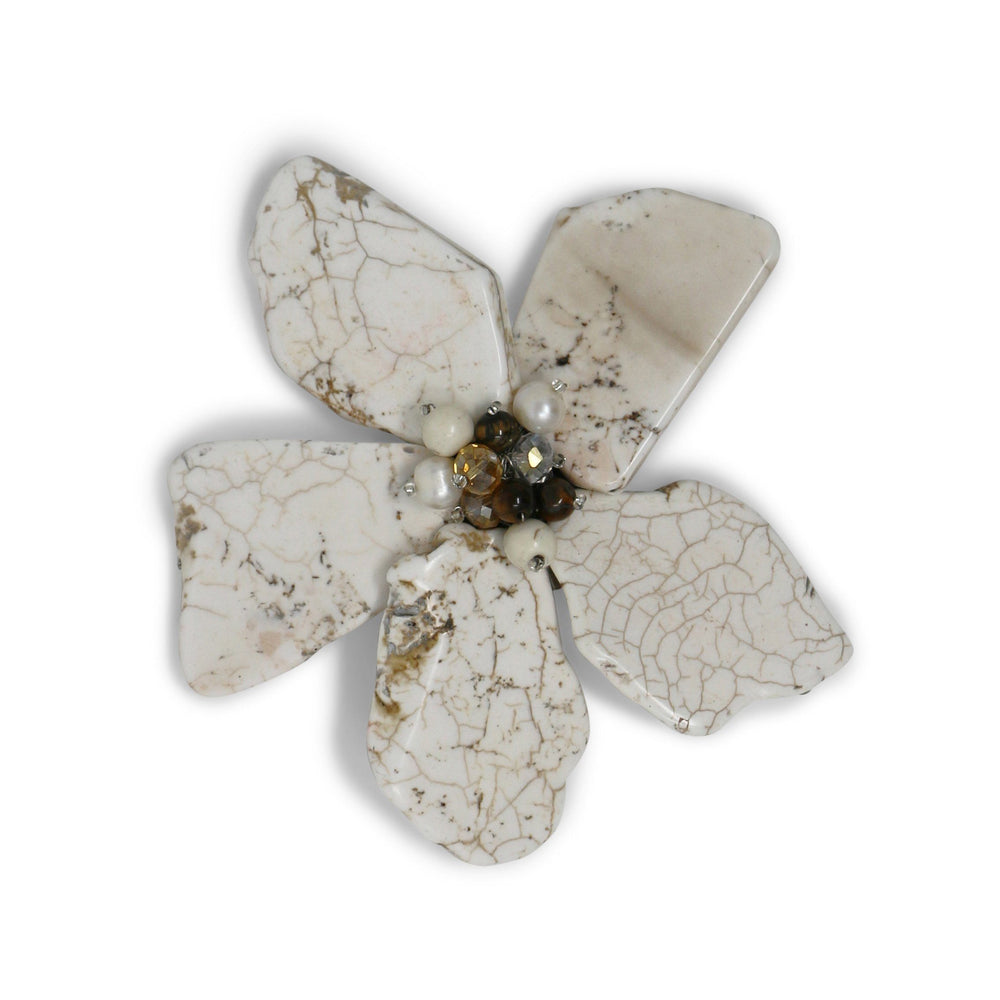 Modern Ivory Daisy Pin - Valerie Sanson - The Shops at Mount Vernon