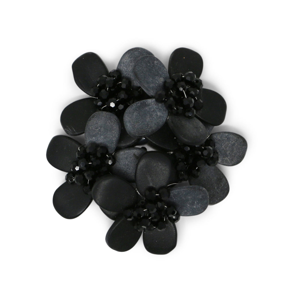 Matte Black Onyx Geranium Pin - Valerie Sanson - The Shops at Mount Vernon