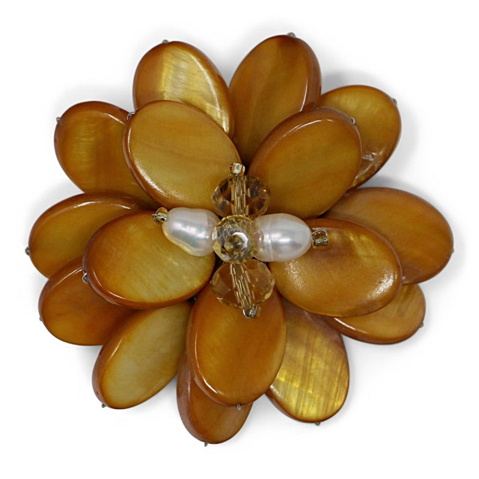 Marigold Flower Pin - Valerie Sanson - The Shops at Mount Vernon