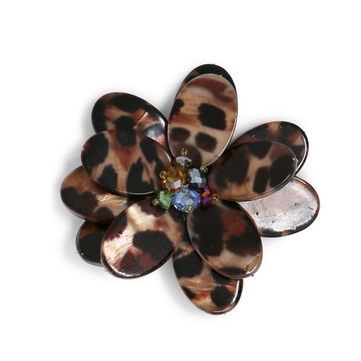 Leopard Wildflower Pin - Valerie Sanson - The Shops at Mount Vernon