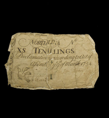 1754 North Carolina 10 Shilling Note