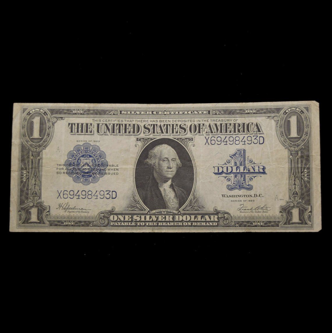 Series 1923 Us Silver Certificate The Shops At Mount Vernon