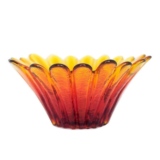 Tangerine Sunflower Bowl - BLENKO GLASS COMPANY - The Shops at Mount Vernon