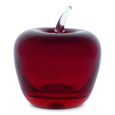 Ruby Red Glass Apple